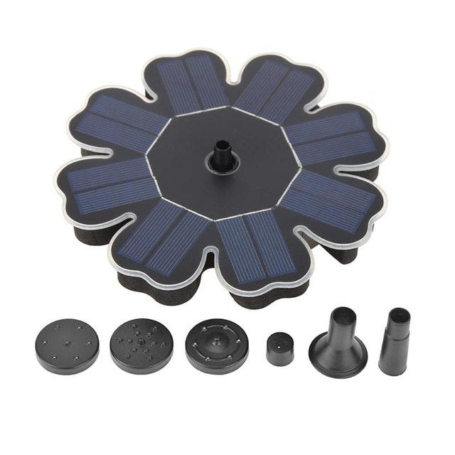 Solar Power Water Fountain Pump 8V 180 L/H  Brushless Bird Bath Pond Floating Kits for Garden Decoration Fountain