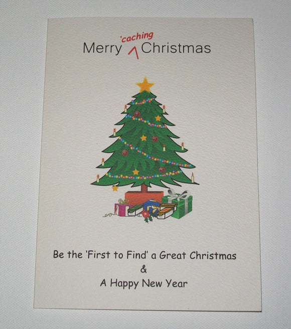 Geocaching Christmas Card - Various designs