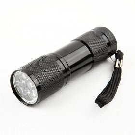 9-Bulb LED Torch - Black