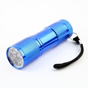 9-Bulb LED Torch - Blue
