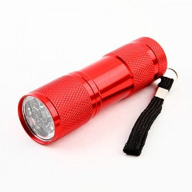 9-Bulb LED Torch - Red
