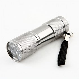 9-Bulb LED Torch - Silver
