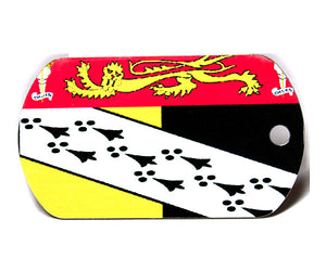 English County Flag Tag - Norfolk