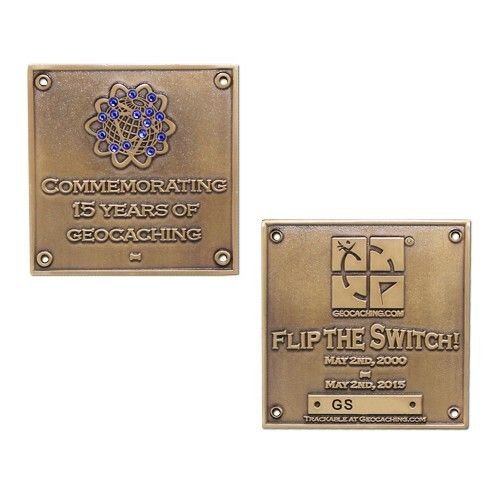 Limited Edition Blue Switch Geocoin: Gold