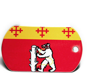 English County Flag Tag - Warwickshire