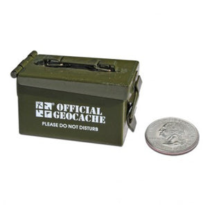 GEOCACHING.COM Micro Ammo Can Cache Container
