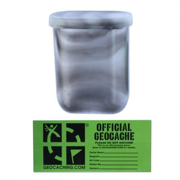 GEOCACHING.COM Mini Decon cache Container - Clear