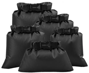 Waterproof Dry Bag - BLACK - Various Sizes