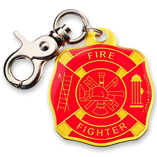 Firefighter Accountability Tag - Yellow-Red
