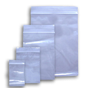 100 Resealable Plastic Bags - Various Sizes