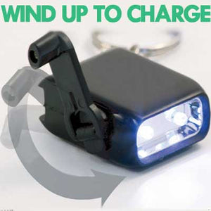 Rechargeable Wind Up Key Chain Torch