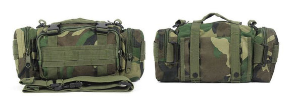 Military Style Waist/Shoulder Bag - Woodland Camo