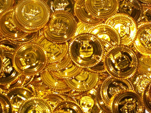 Pirate Treasure Coins x10