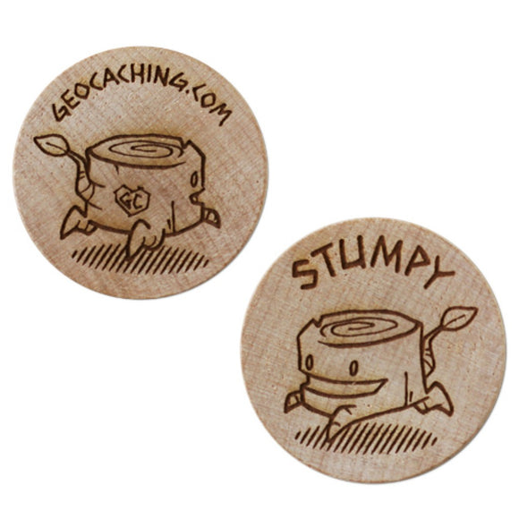 Stumpy the Wooden Nickel SWAG Coin