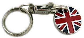Trolley Token Keyring - UK