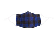 Blue Plaid Mask
