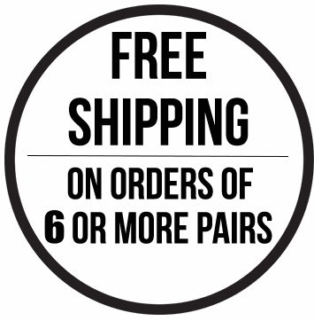 Free shipping on orders of 5 socks or more