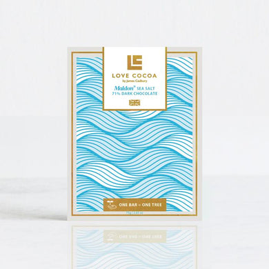 MALDON SEA SALT 70% DARK CHOCOLATE BAR (VEGAN)