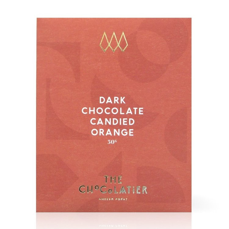 CANDIED ORANGE 70% DARK CHOCOLATE BAR