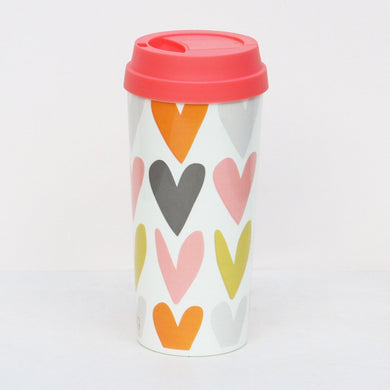 THERMAL MUG WHITE ROSE TINTED