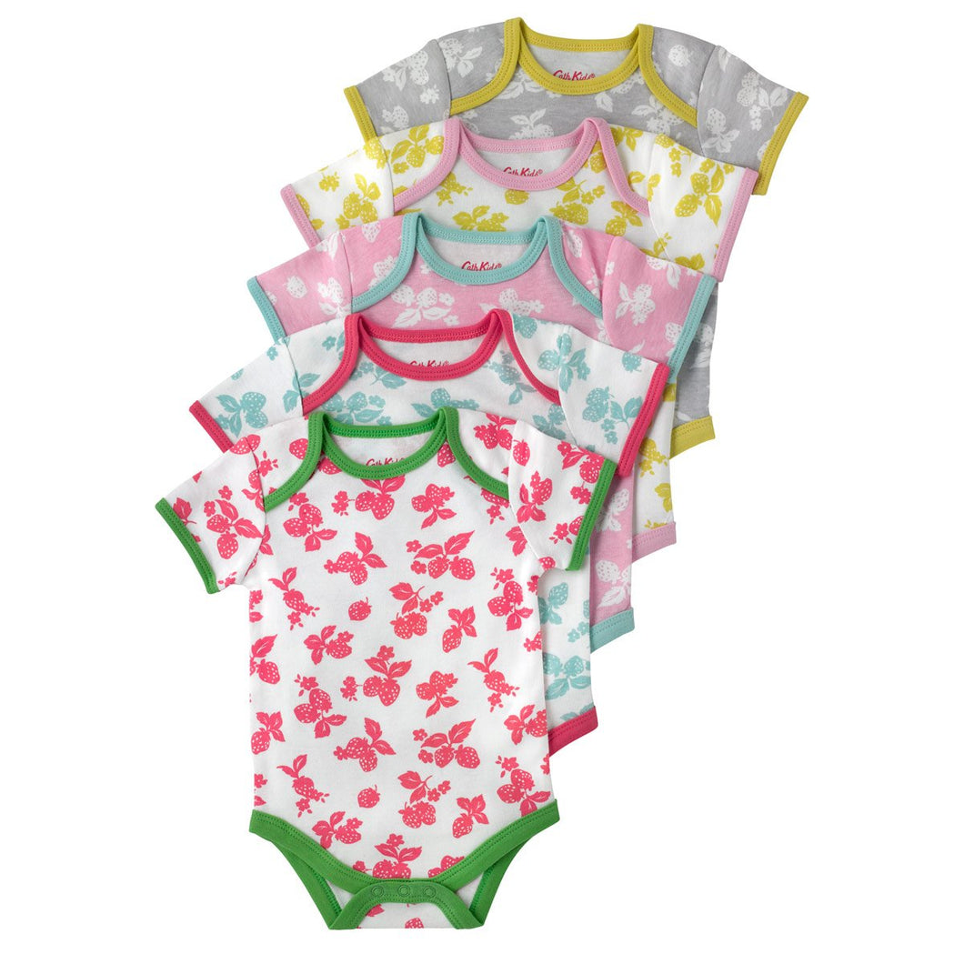 BABY 5 PACK BODYSUIT MONO STRAWBERRIES