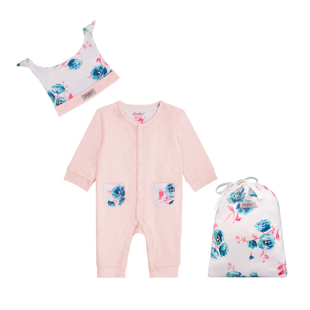 FOOTLESS SLEEPSUIT, HAT AND BAG ISLAND BUNCH