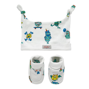 HAT AND BOOTIE GIFT SET MINI MONSTERS