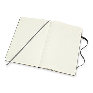 MOLESKINE BLACK SOFT COVER DOUBLE LAYOUT NOTEBOOK A5