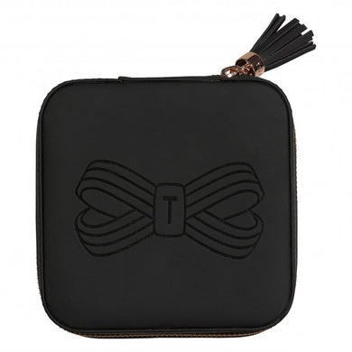 ZIPPED JEWELLERY CASE BLACK