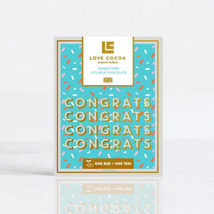 """CONGRATULATIONS"" HONEYCOMB 41% MILK CHOCOLATE"