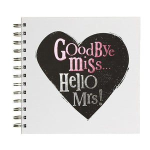 GOODBYE MISS HELLO MRS HEN SCRAPBOOK