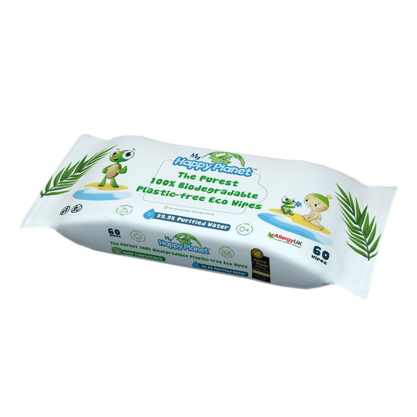 My Happy Planet 100% Biodegradable Plastic-free Eco Wipes - 2071MALL