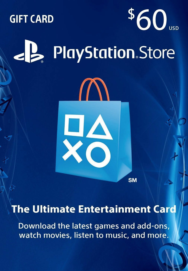 PlayStation Store US $60 US Dollar (USD)/Account details will be sent via email within 24 - 48 hours. Prepaid Only - 2071MALL