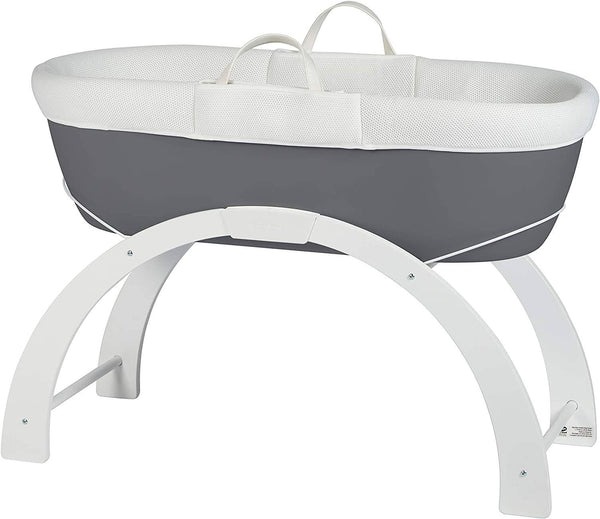 Shnuggle Dreami Baby Sleeper - Slate Grey Base + 2 In 1 Curve Stand - 2071MALL