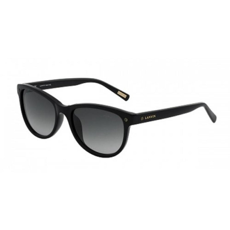 Lanvin Cat-Eye Shape Unisex Sunglasses Frame Black and Lens Grey Color - SLNS-56-700 Size 56x18x145mm - 2071MALL