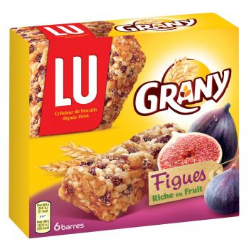 LU GRANY fig cereal bars (X6) 125G
