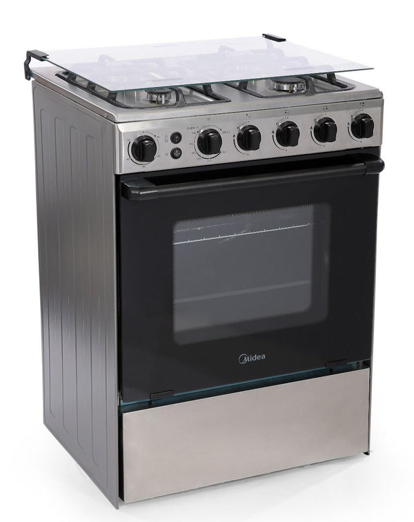 Midea Gas Cooker 4 Burners Gas Cooker - Stainless Steel - BME62058-FFD - 2071MALL