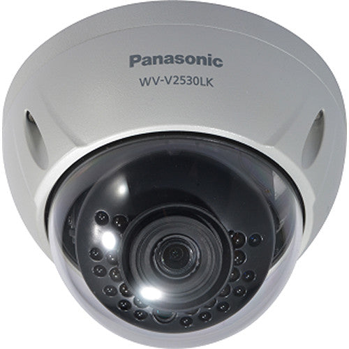 Panasonic WV-V2530LK 2MP Outdoor Network Dome Camera with Night Vision & 3.6mm Lens - 2071MALL