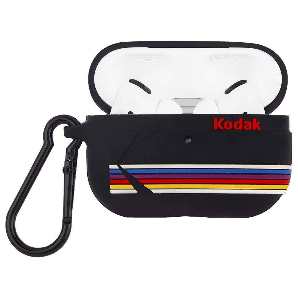 Case-Mate Kodak AirPods Pro Case Matte Black with Kodak Stripes with Black Clip, Matte Black, CM-CM041858 - 2071MALL