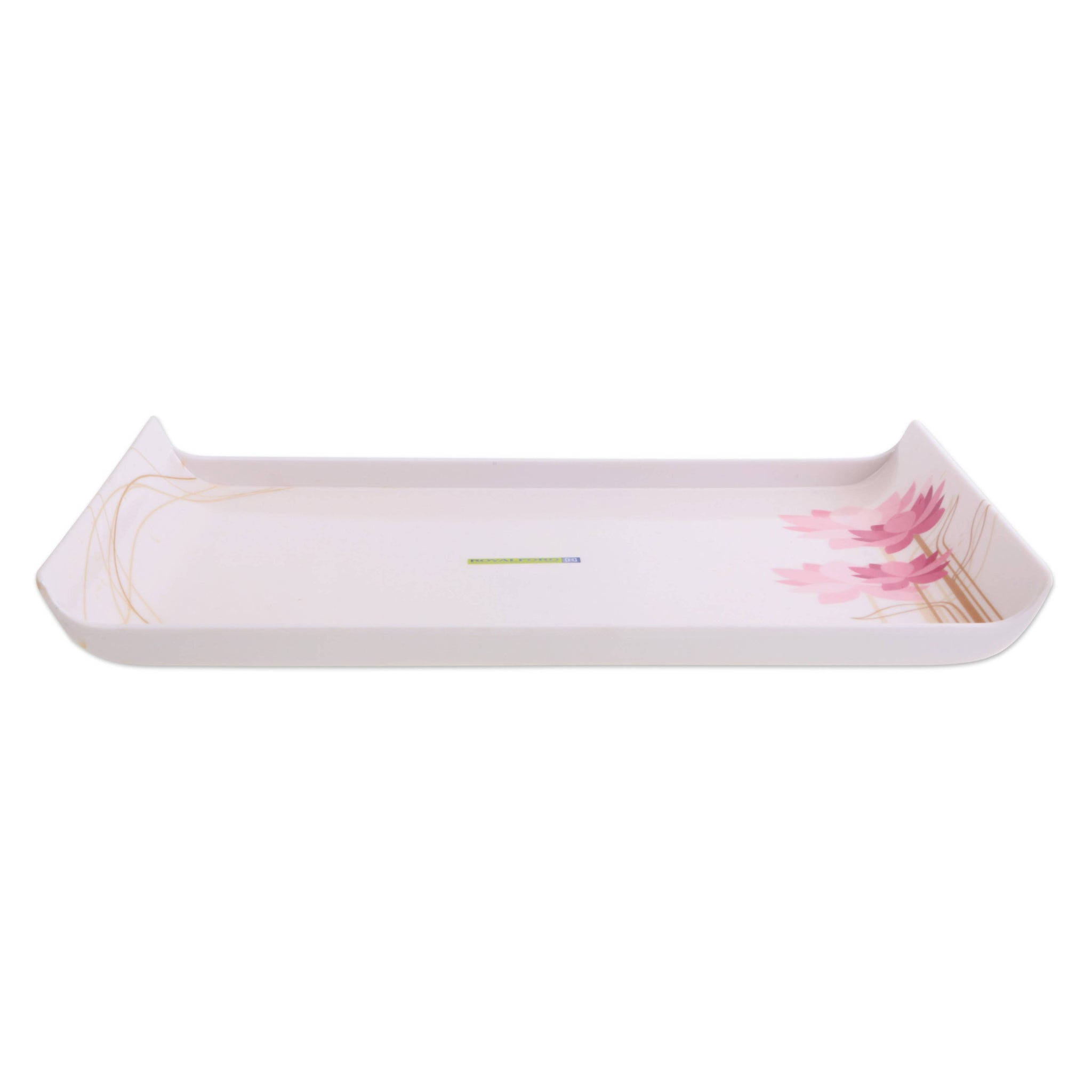 Royalford RF7809 Melamine Boat Serving Tray with Wide Handles (30.9 x 21.4 x 1.5 cm) - Lightweight Tough Material Serving Tea Coffee Tray Ideal for Serving Appetizers, Dips, Tea & Coffee Cups, Water & More - 2071MALL