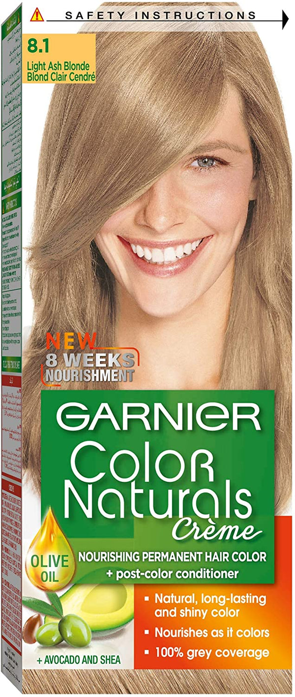 Garnier Color Naturals 8.1 light ash blonde Haircolor 100gm - 2071MALL