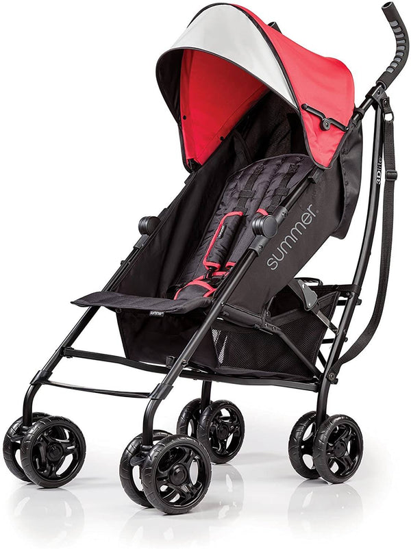 Summer Infant 3D Lite Convenience Stroller - Red - 2071MALL