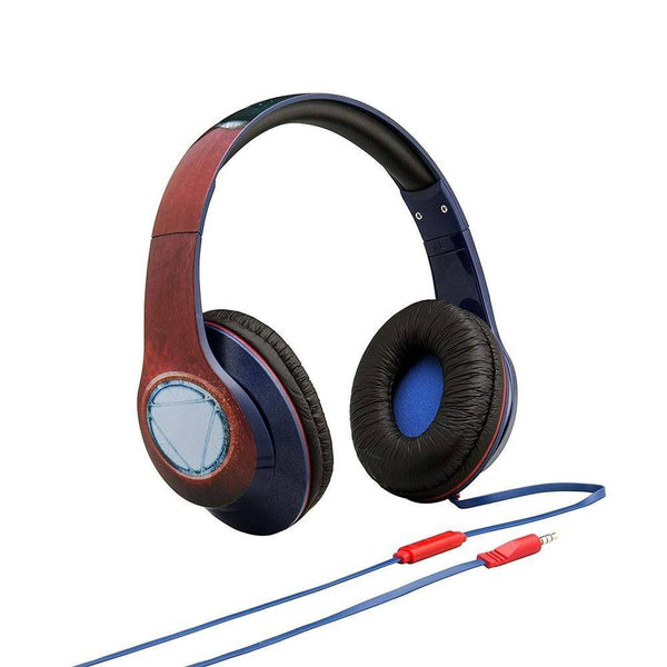 iHome Kiddesigns Over-Ear Headphones With Mic Kids Headphones Civil War (Captain America On One Side & Iron Man On The Other Side) - 2071MALL