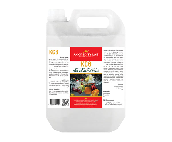 KC 6 - Fruit & Vegetable Wash Liquid by Accredity Lab - 2071MALL
