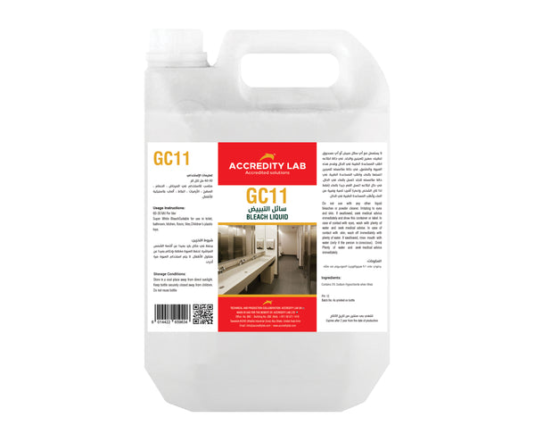GC 11-Liquid Bleach / Chlorine Bleach Disinfecting Solution by Accredity Lab - 2071MALL