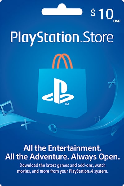 PlayStation Store US $10 US Dollar (USD)/Account details will be sent via email within 24 - 48 hours. Prepaid Only - 2071MALL