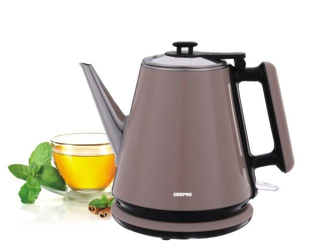 Geepas Double Layer Electric Kettle 1.2L 1X16 - Black, GK38012 - 2071MALL