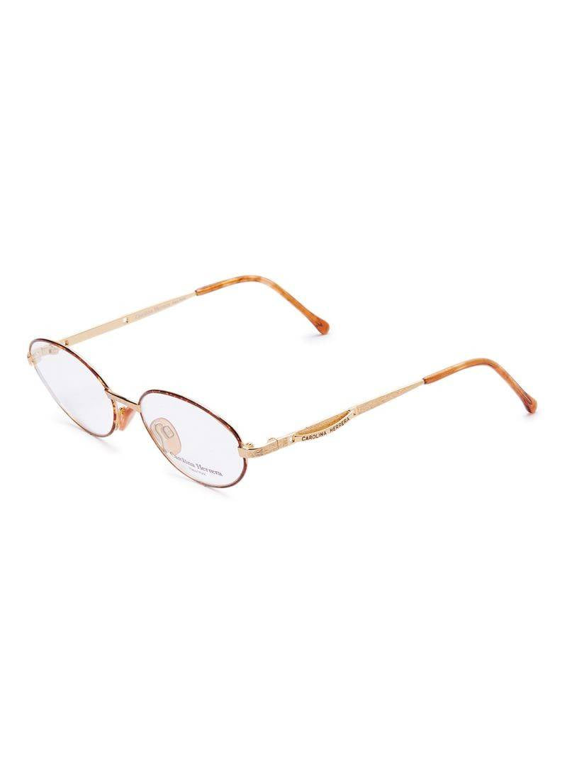 Carolina Herrera New York Frame For Unisex Gold Plated And Havana - CH717-GP605-52-17-135 - 2071MALL