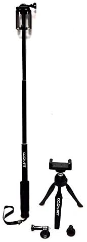 GoSmart Selfie Stick Kit For Digital Camera, Action Camera and Smartphones-Black - 2071MALL