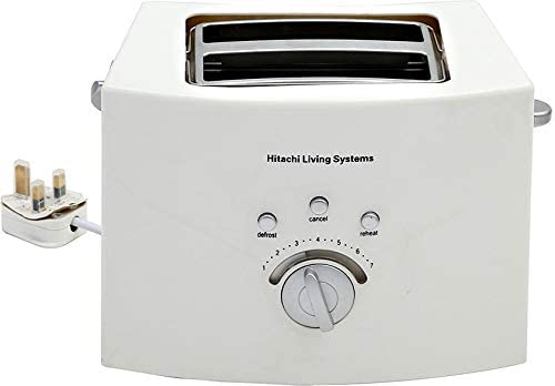 Hitachi 2 Slice Toaster, 735-860W, White HTOE10 - 2071MALL